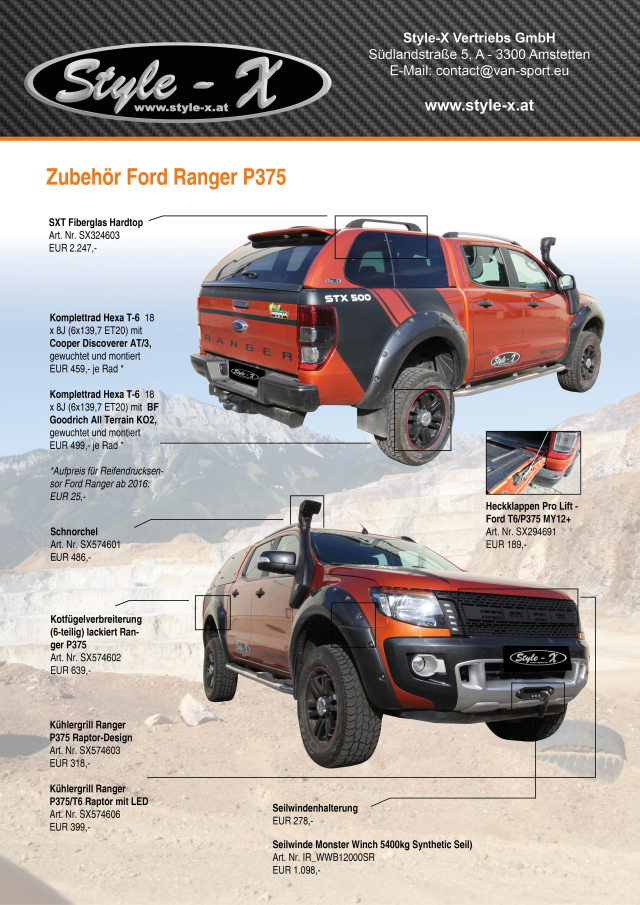 ford ranger 2016 zubeh r automobil bildidee. Black Bedroom Furniture Sets. Home Design Ideas